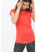 Футболка кимоно алая для беременных и кормящих (209)..