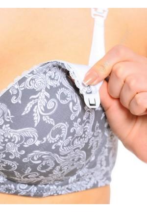 """Бюстгальтер """"Элизе"""" серый для кормящих мам и беременных (6003)"""