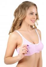 Бюстгальтер меланж розовый для кормящих мам и беременных (307В)..