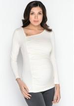 Блуза для беременных молочного цвета (25.2191)..
