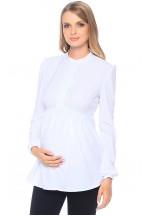 Блуза белая для беременных с длинным рукавом (299257)..
