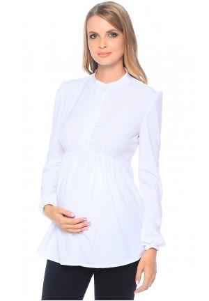 Блуза белая для беременных с длинным рукавом (299257)