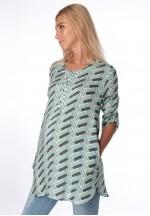 Блуза-рубашка ментол для беременных и кормящих (ем 8001)..