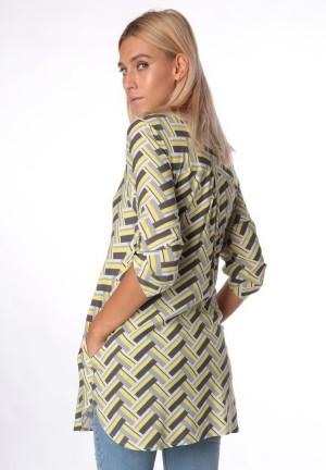 Блуза-рубашка желтая для беременных и кормящих (ем 8001)