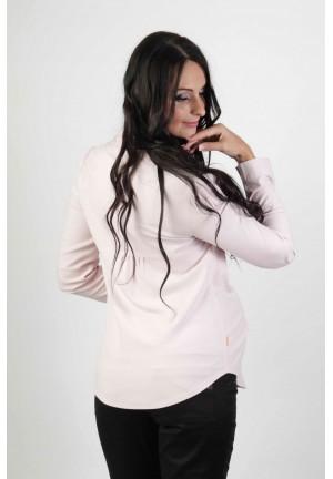 Блузка классическая светло-розовая для беременных с длинным рукавом (384 мод.)