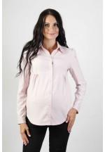 Блузка классическая светло-розовая для беременных с длинным рукавом (3..