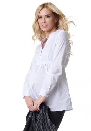 """Блуза """"Салли"""" белая для беременных и кормящих"""
