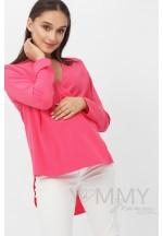 Блуза на запах фуксия для беременных и кормящих..