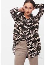 Рубашка милитари с внутренним топом для беременных и кормящих..