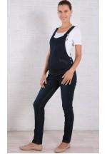 Комбинезон джинсовый для беременных темно-синий (6017)..