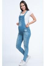 Комбинезон джинсовый для беременных голубой (7170)..