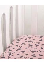 Простынь на резинке трикотажная Фламинго 60*120 (интерлок)..