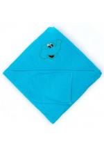 Комплект для купания (полотенце-уголок 100*100 с вышивкой + рукавичка)..