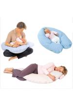 Подушка Плантекс для мамы и ребенка COMFY BIG (бежевая с мишками)..