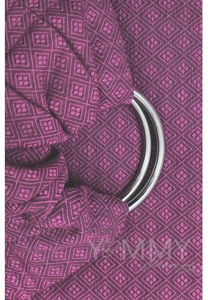 Слинг с кольцами из шарфовой ткани Rose Agate (розовый/темно-серый) (550)