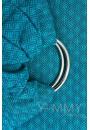 Слинг с кольцами из шарфовой ткани Blue Biryuza (бирюзовый/темно-серый) (550)