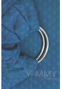 Слинг с кольцами из шарфовой ткани Lazurite (васильковый/темно-серый) (550)