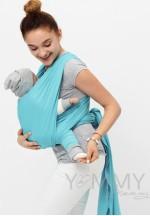 Слинг-шарф трикотажный бирюзовый (551)..