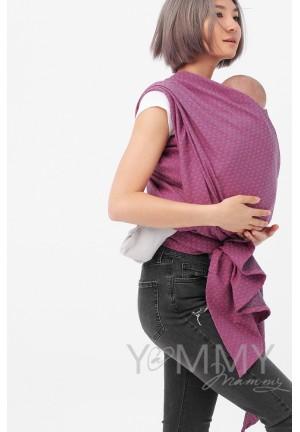 Слинг-шарф из шарфовой ткани Rose Agate (розовый/темно-серый) (551)