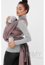 Слинг-шарф из шарфовой ткани (бежевый/темно-серый) (551)..