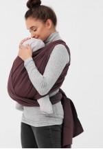 Слинг-шарф из шарфовой ткани (шоколад/темно-серый) (551)..