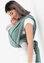 Слинг-шарф трикотажный двухсторонний зеленый/серый (551)..