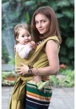 Слинг–шарф из шарфовой ткани Golden Beryl (лимонный/коричневый) (551)..