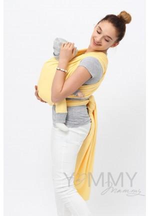 Слинг–шарф трикотажный светло-желтый (551)