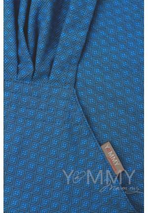 Май-слинг из шарфовой ткани Lazurite (васильковый/темно-серый) (552)