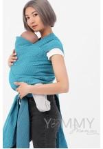 Май-слинг из шарфовой ткани Blue Biryuza (бирюзовый/темно-серый) (552)..