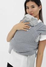 Май-слинг из шарфовой ткани светло-серый/темно-серый (552)..