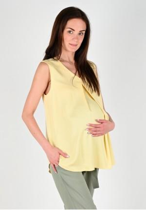 """Блуза """"Магнолия"""" светло-желтая для беременных"""