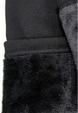 Леггинсы чёрные НА МЕХУ для беременных