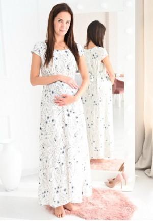 """Платье """"Джулия"""" васильки для беременных длинное в пол"""