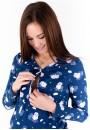 """Комплект для дома и сна (брюки и джемпер) """"Барашки на облаках"""" для беременных и кормящих"""