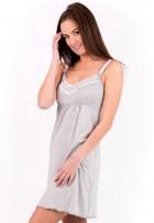 """Сорочка """"Наоми"""" серый меланж с белым для беременных и кормящих"""