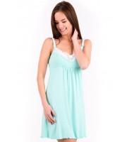 """Сорочка """"Наоми"""" мята ВИСКОЗА для беременных и кормящих"""