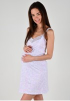 """Сорочка """"Наоми"""" ромбики с белым ХЛОПОК для беременных и кормящих"""