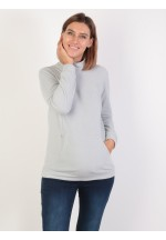 Джемпер флисовый св.серый для беременных и кормящих (ем 8602)..