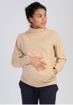 Толстовка флисовая песочная для беременных и кормящих..