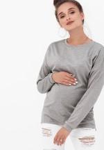 Джемпер серый меланж для беременных и кормящих..