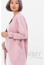 Жакет с карманами розовый для беременных и кормящих (515)..
