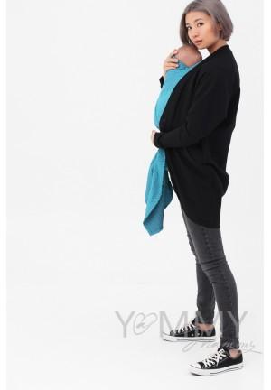 Жакет с карманами черный для беременных и кормящих (515)