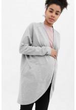 Жакет с карманами серый меланж для беременных и кормящих (515)..