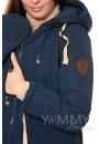 Куртка-парка 3в1 темно-синяя для беременных и слингоношения