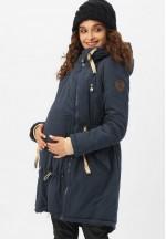 Куртка-парка 3в1 темно-синяя для беременных и слингоношения..