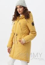 Куртка-парка 3в1 mustard (горчица) для беременных и слингоношения..