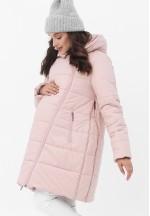 Куртка-пальто 3в1 пудрово-розовая для беременных и слингоношения (813)..