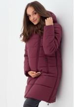 Куртка-пальто 3в1 бургунди для беременных и слингоношения (813)..