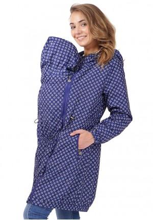 """Куртка деми 3в1 """"Бонжур"""" синий орнамент для беременных и слингоношения"""